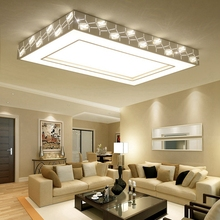 Modern Simple Creative Diamond Suction Roof Lighting Home Warm Living Room Lobby Acrylic LED Remote Controlled Ceiling