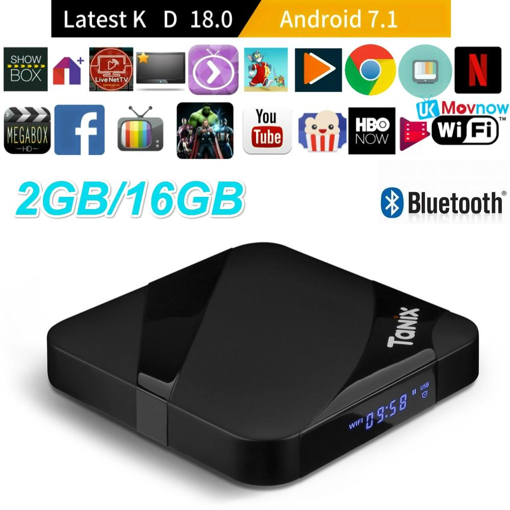 Tanix TX3 Max Android TV BOX Android 7.1 OS Amlogic S905W 2 gb 16 gb Bluetooth Smart TV Box HDMI 2.0 4 k Médias Lecteur Set top Box
