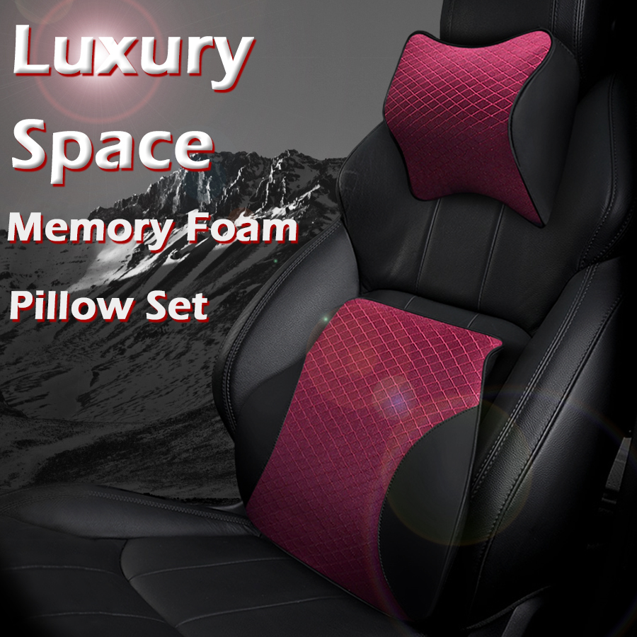 Neck Pillow Car Headrest Universal Auto Seat Office Chair Neck Rest Memory Form Message Head Support Pillows Interior Accessories Automobiles & Motorcycles