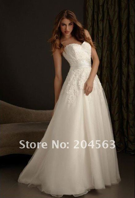 Free Shipping Best Selling A Line Sweetheart Lace Wedding Dresses Any Size Color