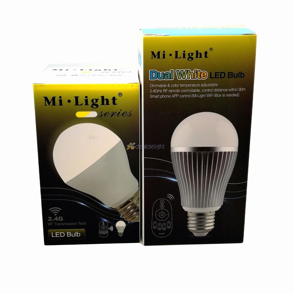 Mi.Light 2.4G 6W FUT017 9W FUT019 CCT LED Bulb Color Temperature Adjustable Dual White CW/WW AC110V 220VMi.Light 2.4G 6W FUT017 9W FUT019 CCT LED Bulb Color Temperature Adjustable Dual White CW/WW AC110V 220V