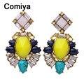 Comiya pendientes индийские ювелирные изделия золотой цвет сплава цинка мути цвет имитация камень леди мотаться серьги оптовая серьги