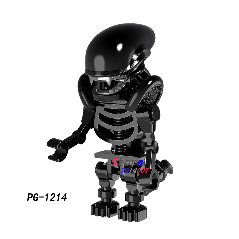 Single Movie Series Skeleton Skull Alien One-Eyed Cyclops Omino Snake figure building blocks model bricks toys for children loz diamond blocks dans blocks iblock fun building bricks movie alien figure action toys for children assembly model 9461 9462