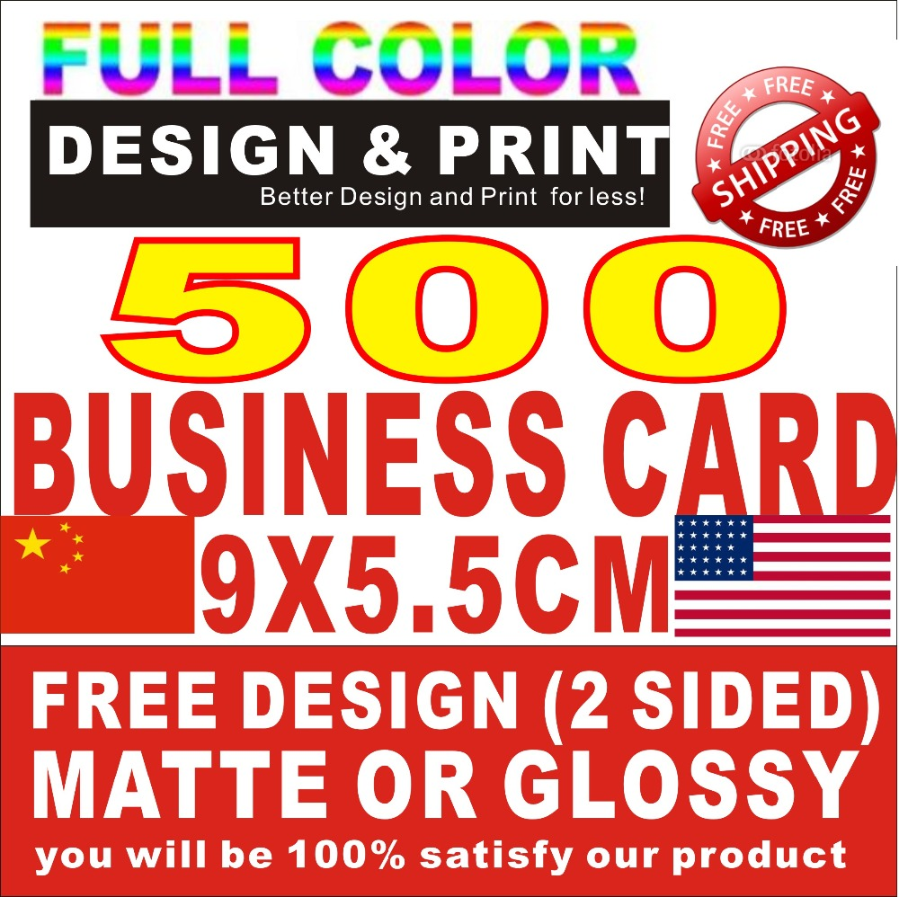 Color printing bu - 500pcs Bu Siness Cards 300gsm 2sided Print Free Design Only Need 25usd Custom Bus Iness