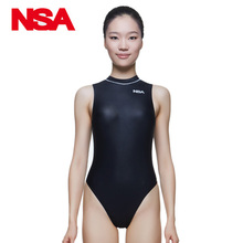 NSA blackTriangle conjoined Water polo women's bathing suit Cultivate one's morality show thin waterproof professional swimwear