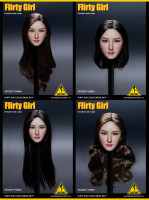 1/6 Flirty Girl Collectibles Asian Female HS46 Head Carving Model For 12 Action Figure Doll Accessories