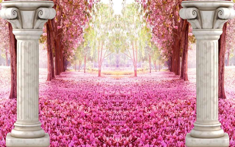 Европейские шторы фото роспись Розовый шторы Роскошные плотные 3D для гостиной постельные принадлежности комнаты офис