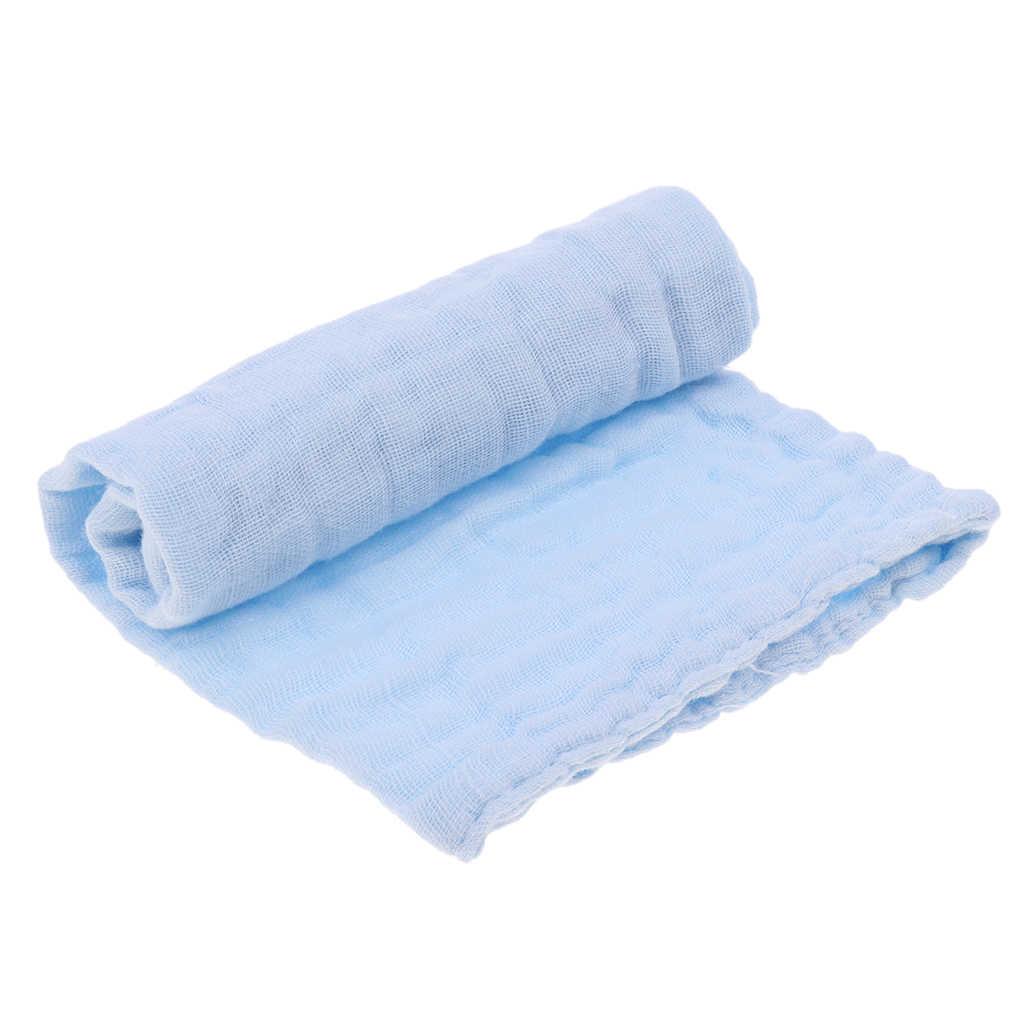 2 個ベビーハンカチガーゼ授乳タオル清潔な幼児摂食タオル洗浄服ベビー小さな看護タオル