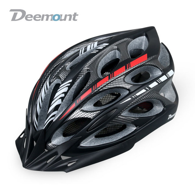 Deemount Mens MTB Bike Helmet Integrally-molded Road Bicycle Helmet EPS Utralight Mtb Cycling Helmet With LED Warning Light