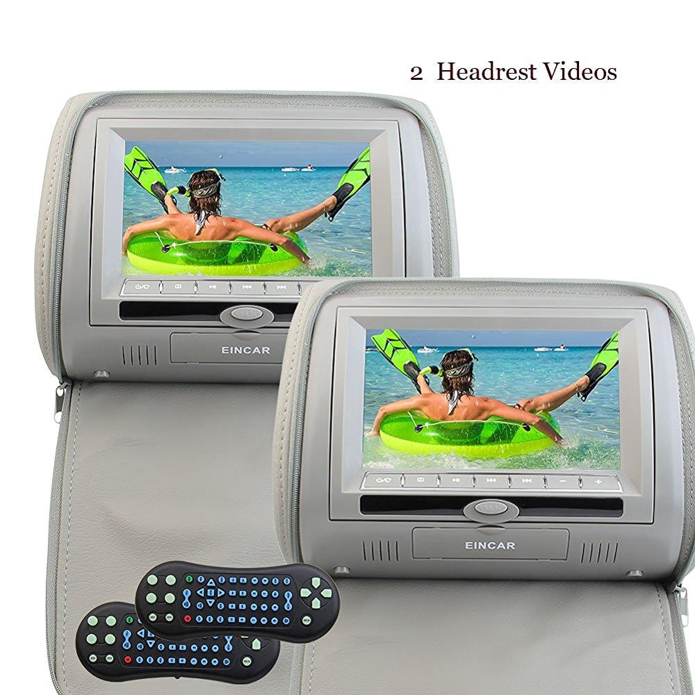 2 7 HD Digital Widescreen Twin Headrest Video Car USB SD CD DVD Player with RCA Input IR transmitter and FM Transmitter Gary толстовка муж marina yachting