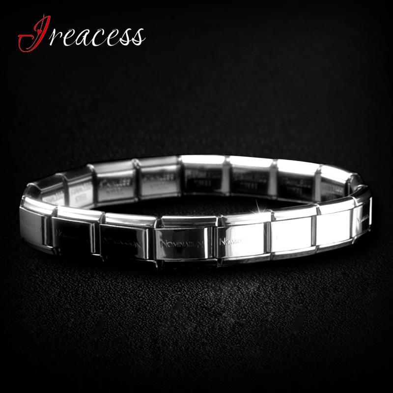 New Stainless Steel Charm Bracelets For Women men Fashion Jewelry body Bracelet & Bangle Wristbands Band
