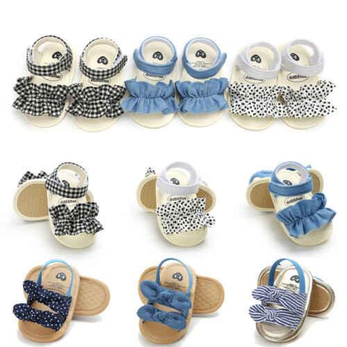 Arco chico niño bebé niña fiesta princesa verano playa Zapatos Niños zapatillas Niño suave cuna caminantes zapatos