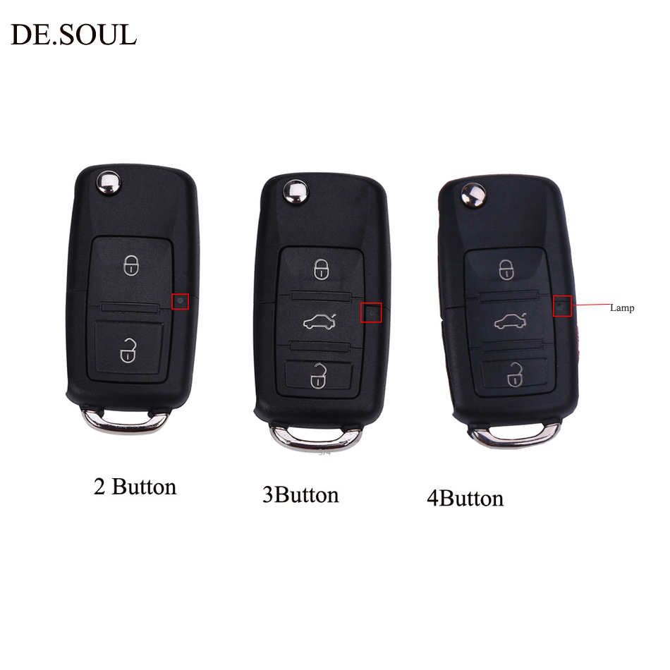 DE SOUL Remote Key Shell Flip Folding Car Key For VOLKSWAGEN VW Golf Passat Sharan 1999