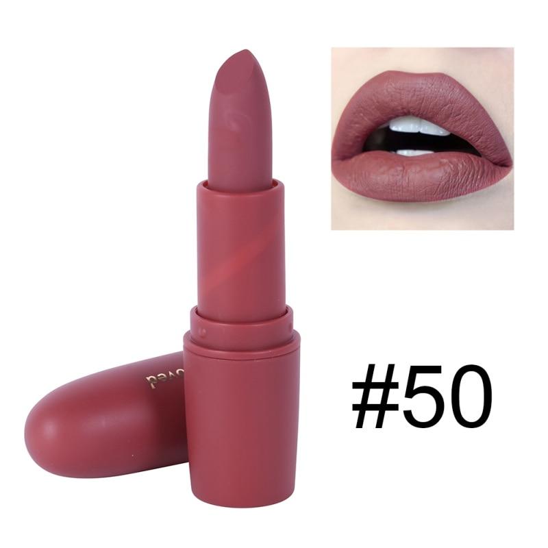 Women Makeup Lips Sexy Matte Lipstick Waterproof Velvet Batom Pigments Moisturizer Lipstick Matte Lips maquiagem New 18 42
