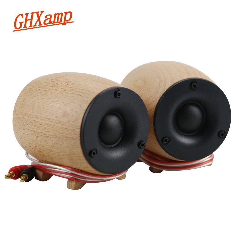1Pairs Wooden Super Tweeter Speaker 8OHM 20W Dome Neodymium Treble Silk Diaphragm Home Theater Tweeter Compensation