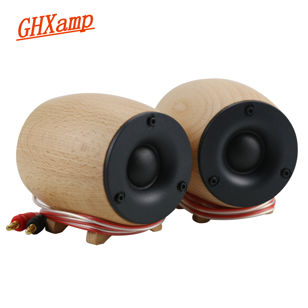 1Pairs Wooden Super Tweeter Speaker 8OHM 20W Dome Neodymium Treble Silk Diaphragm Home Theater Tweeter Compensation 25KHZ