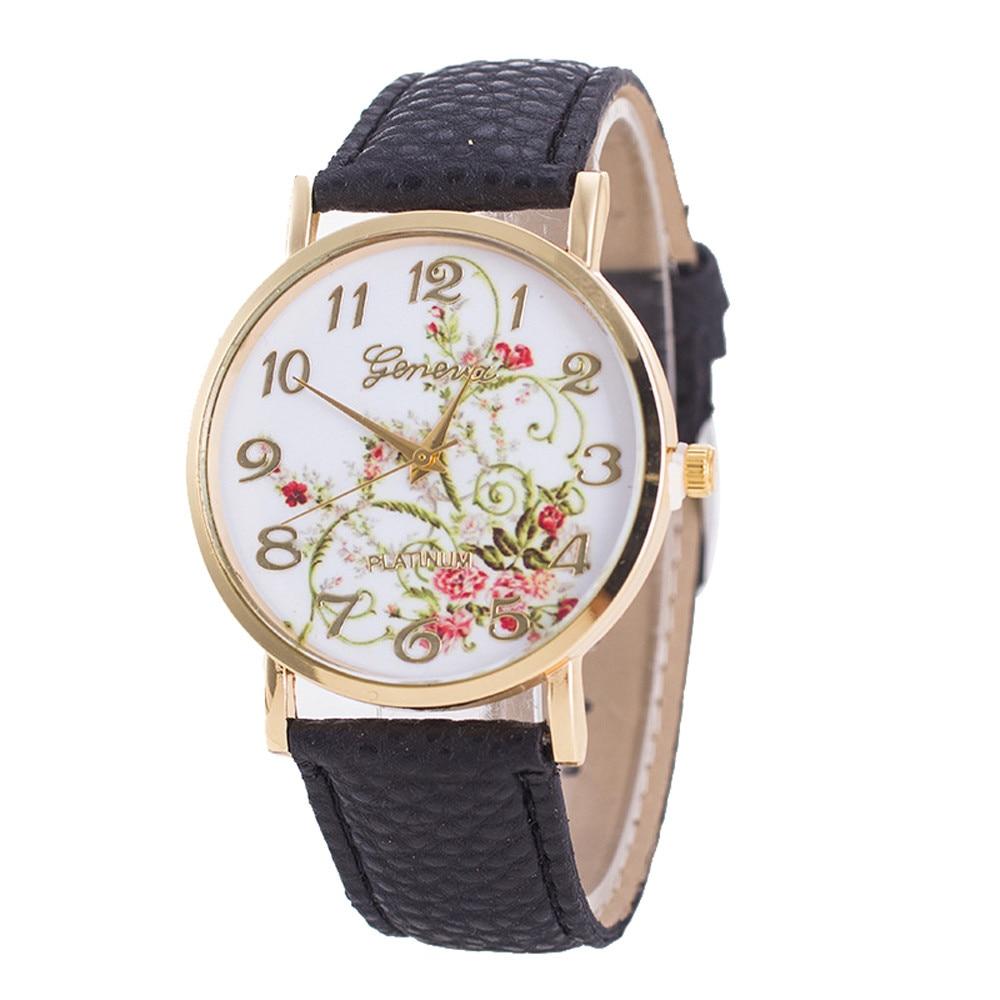 e17b48ea83b Relógios das mulheres de Quartzo relógios de Pulso Das Mulheres Da Forma  Flores Relógios Esporte Analógico