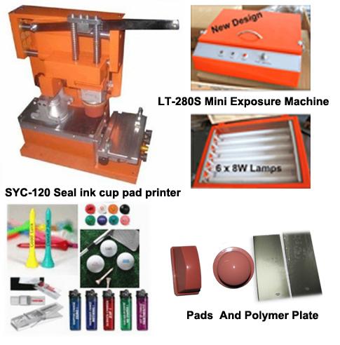 Taza de la tinta de impresora del cojín con ps placa de polímero uv unidad de exposición