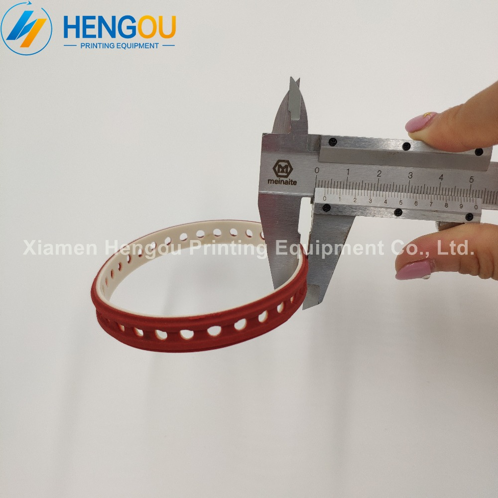 10 pieces F4.614.560/01 red suction belt for offset printing machine XL75 SM102 XL105 XL145 XL162 size:245x10mm