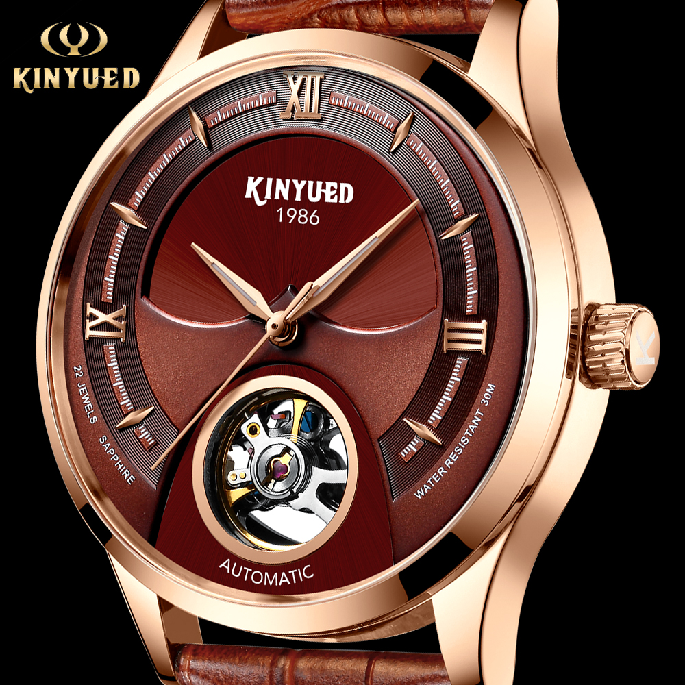 KINYUED Fashions Watch Men Skeleton Automatic Mechanical Wrist Watch Skull Waterproof Leather Sport Mens Hours reloj hombre 2019KINYUED Fashions Watch Men Skeleton Automatic Mechanical Wrist Watch Skull Waterproof Leather Sport Mens Hours reloj hombre 2019