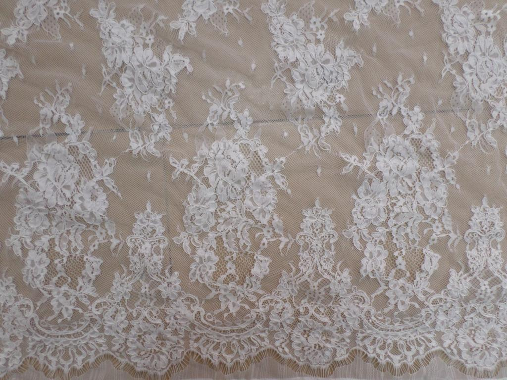 3Meter/pc Bridal Wedding French Lace Fabric Ivory White Mesh ...