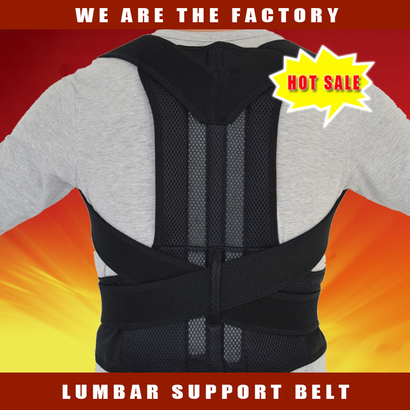 Adjustable Neoprene Back Support Posture Corrector Training Posture Body Shaper Back Belt Safety Ceinture Dorsal Free Shipping xinda professional half body safety belt harnesses for rock climbing outdoor expand training aerial protective supplies