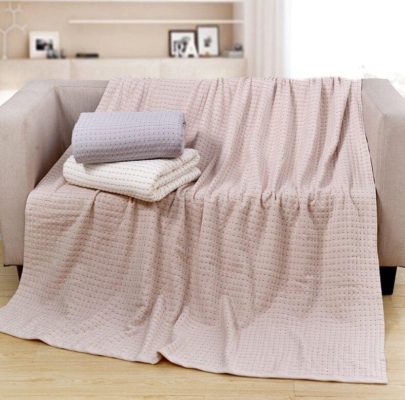 Nieuwe 100% Katoen Geweven Wafel deken Zacht Bed Dekens Gooien Voor Zomer Volwassenen Sofa Deken 150X200 cm-in Deken van Huis & Tuin op  Groep 1