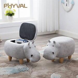 Image 1 - 2018 Koştu Hiçbir Yeni Kabarık Poire Taburetes Sandalye Ahşap Tabure Dışkı Ayakkabı Hippo Tasarımcı Mobilya Kanepe Depolama Içeren Modern