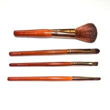 Hot New 4Pcs Professional Cosmetic Brush Sets Face Powder Eyeshadow Blush Brushes Kabuki Makeup Kits