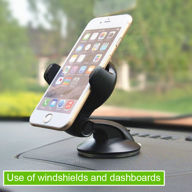 ESVNE Universal Car Phone Holder For Iphone 8 6 7 Mobile Phone Support Dashboard Windshield 360 Degree Car Holder Cellular Phone
