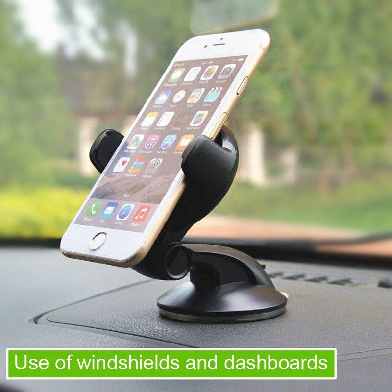 ESVNE support universel de voiture pour téléphone portable pour iphone 8 6 7 support de téléphone portable tableau de bord pare-brise 360 degrés support pour voiture téléphone cellulaire