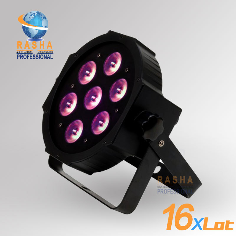 ФОТО 16X LOT Freeshipping  ADJ NEW 7*12W Quad LEDs (RGBA/RGBW) NEW Mega Quadpar Profile , DMX Par Can,ADJ PAR LIGHT