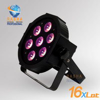 16X LOT Freeshipping ADJ NEW 7 12W Quad LEDs RGBA RGBW NEW Mega Quadpar Profile DMX