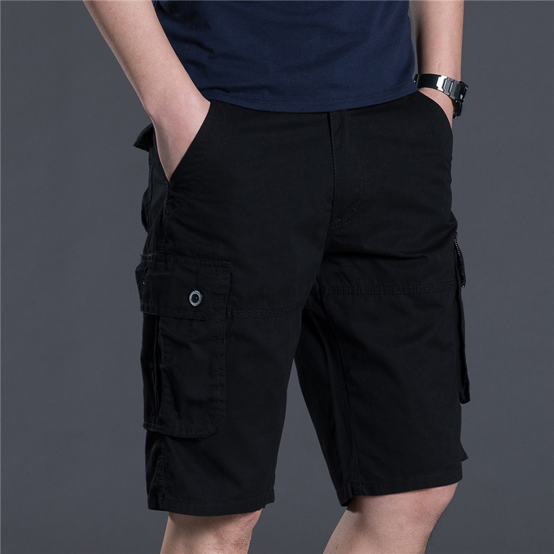 2018 new arrivals fashion men cargo shorts straight loose fashion cotton mans short trousers bottoms plus size