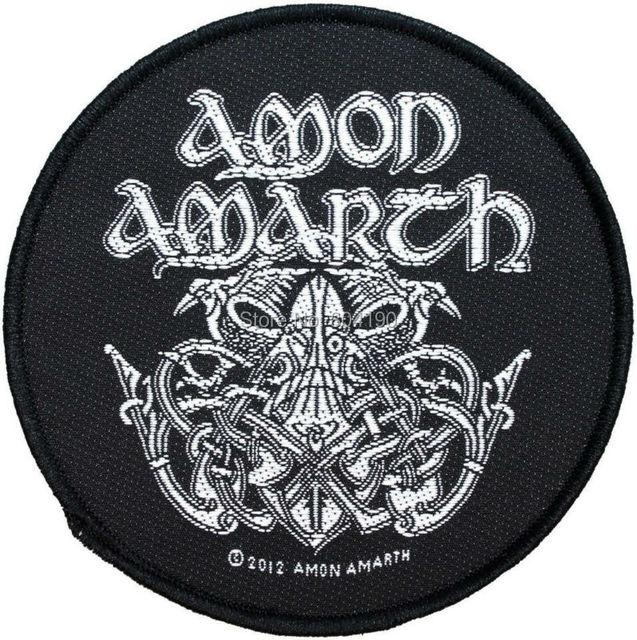 Amon Amarth Odin Norse Art Viking Symbool Geweven Patch Hardcore