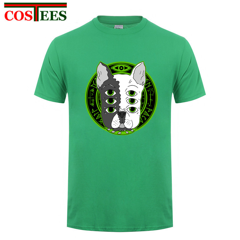 2018 Hot Sale 6xeyes pulldog Design Women T Shirt men French Bulldog T-shirt Novelty Short Sleeve Tee Pug Printed Bad Dog tshirt