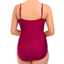 Ruffle One Piece Swimsuit Mature Women Cover Belly Swimwear Slimming Vintage Retro Bodysuit Bathing Suits Monokini Plus Size 3XL