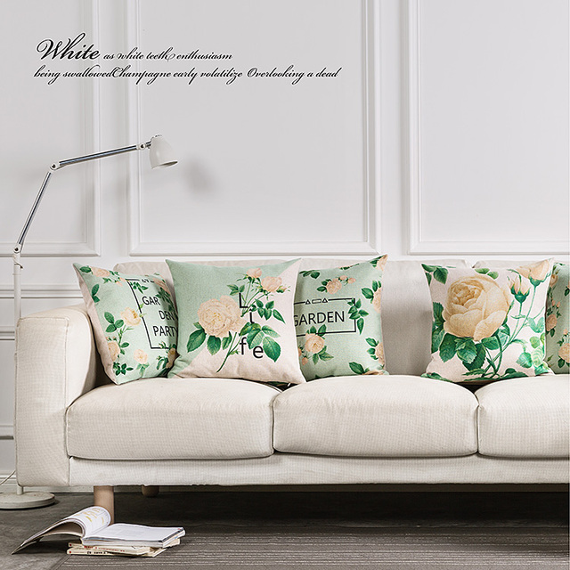 Custom Made Rural Countryside Cushions For Sofas Creative And Cozy Decorative Cushion Art Flowers Home