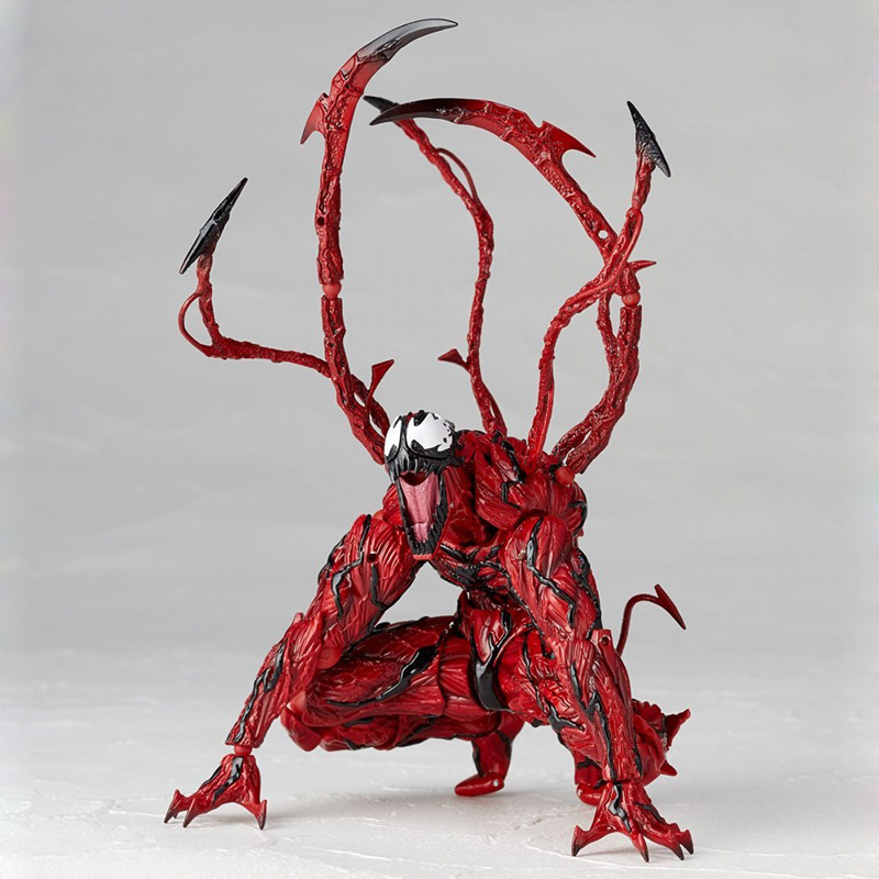 Revoltech Amazing Red Venom Carnage Amazing Captain America Spiderman Magneto Wolverine X-men Action Figures Toy Doll (58)