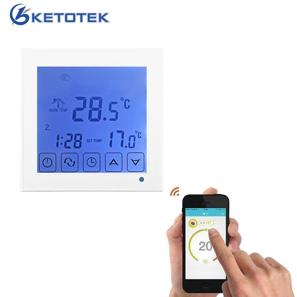 Thermostat électrique de chauffage de chaudière à gaz de l'eau contrôleur de température de chauffage par le sol d'écran tactile d'affichage à cristaux liquides 16A 3A rergulateur de température