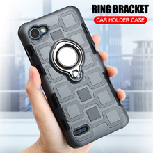 hot deal buy cover for lg q6 silicone case for lg q6 plus back cover armor hard shockproof phone case for lg q6 q6 plus tpu ring stand cases