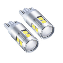 2pcs High Bright T10 W5W 194 3030 9SMD LED White Car Clearance Lights Replacement Bulb DC12V