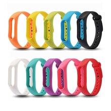 1pcs mi band2 สายรัดข้อมือสายรัดนาฬิกาซิลิโคนนุ่มสำหรับ Xiao mi mi Band 2 สีดำสีเขียว orange สีแดง