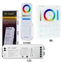 B8 Touch Panel a Parete; FUT089 8 Zone dimmer telecomando RF; LS2 5IN 1 intelligente ha condotto il regolatore di RGB + CCT led striscia Miboxer