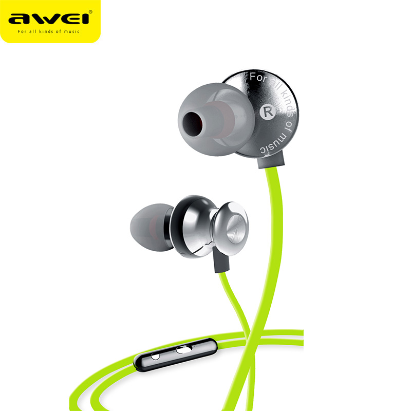 Awei S980HI Wired In-Ear Supper Bass Earphones Stereo Music Mobile Headset Phone Earbuds fone de ouvido With Microphone uiisii hi905 professional hifi in ear earphone super bass stereo music headset with microphone fone de ouvido for mobile phone