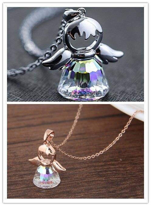 2018 fashion luxury brand guardian angel jewelry from Swarovski crystal charm jewelry wedding woman