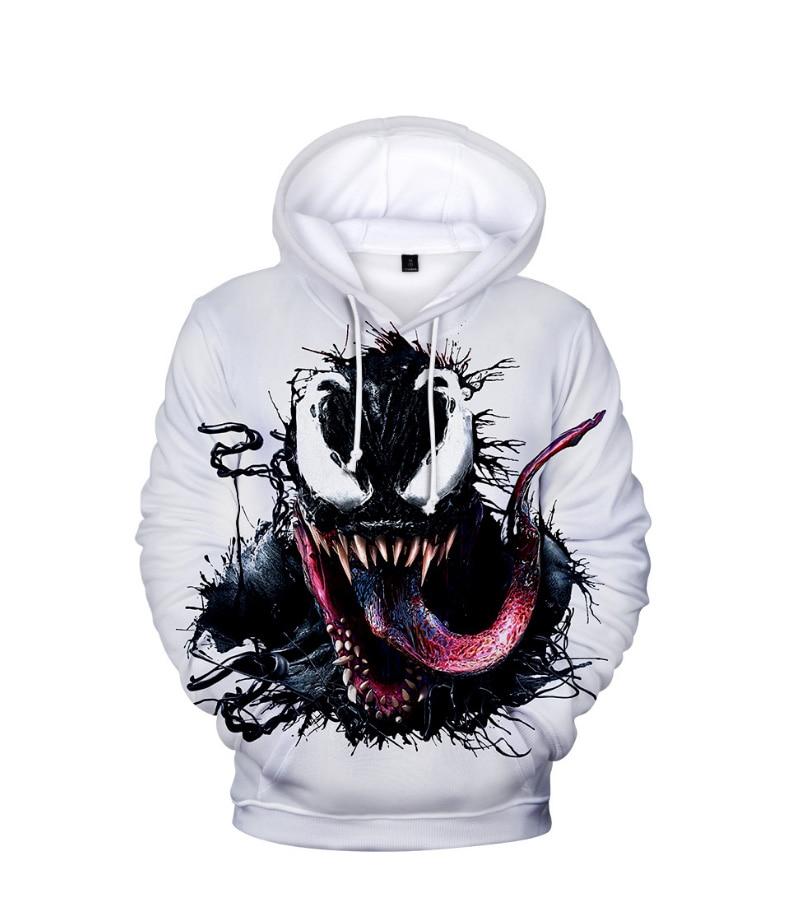 Comic Venom Hoodie Sweatshirts Men Superhero Anime Cool Black Autumn Winter Tops Plus Velvet Warm Hoody Couple Hip Hop Pullovers (12)