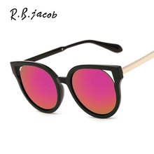 Hollow out Mirror Sunglasses Women 2017 New Brand Designer Lady Female Sun glasses UV400 Fashion Cat Eye