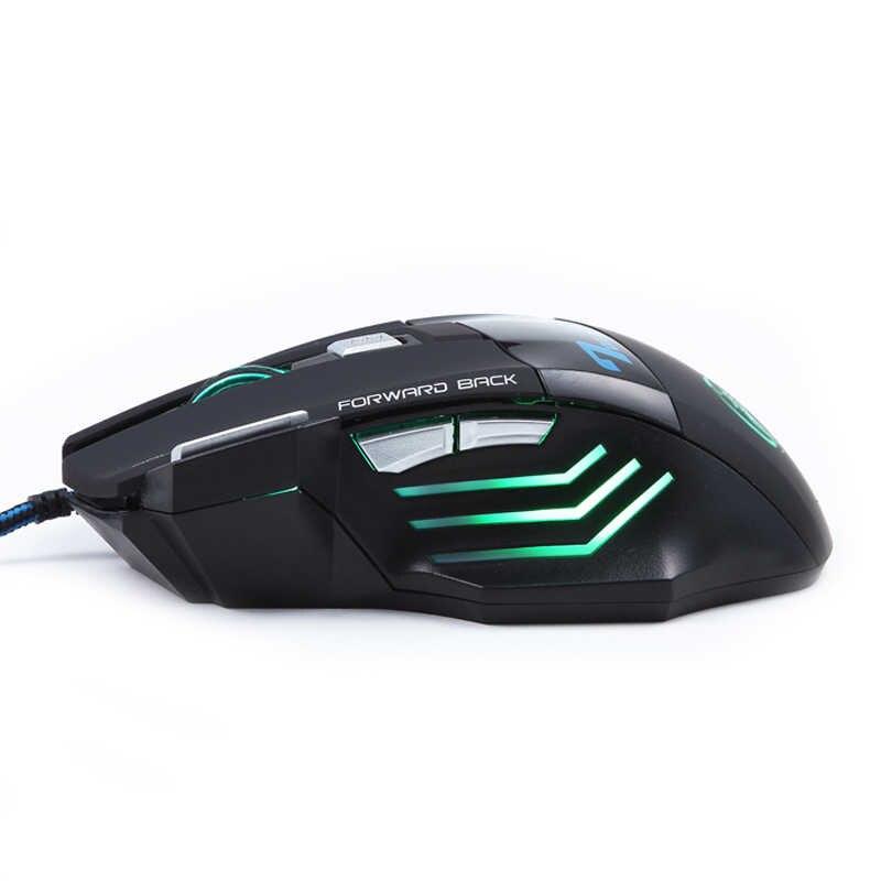 المهنية مزدوجة انقر 7 أزرار 3200 ديسيبل متوحد الخواص الألعاب ماوس USB السلكية البصرية ألعاب كمبيوتر ماوس الفئران للكمبيوتر لابتوب CSGO لول