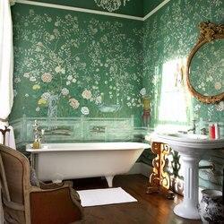Aangepaste Classic elegante handgeschilderde zijden behang schilderen bloemen met vogels veel patronen en achtergrond optioneel